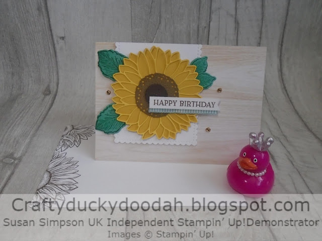 Craftyduckydoodah!, Celebrate Sunflowers, Stitched So Sweetly, Susan Simpson UK Independent Stampin' Up! Demonstrator, Supplies available 24/7 from my online store,