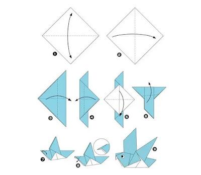 Ide Kreatif Kertas Origami Yang Mudah Dibuat Sebagai Hiasan Dinding
