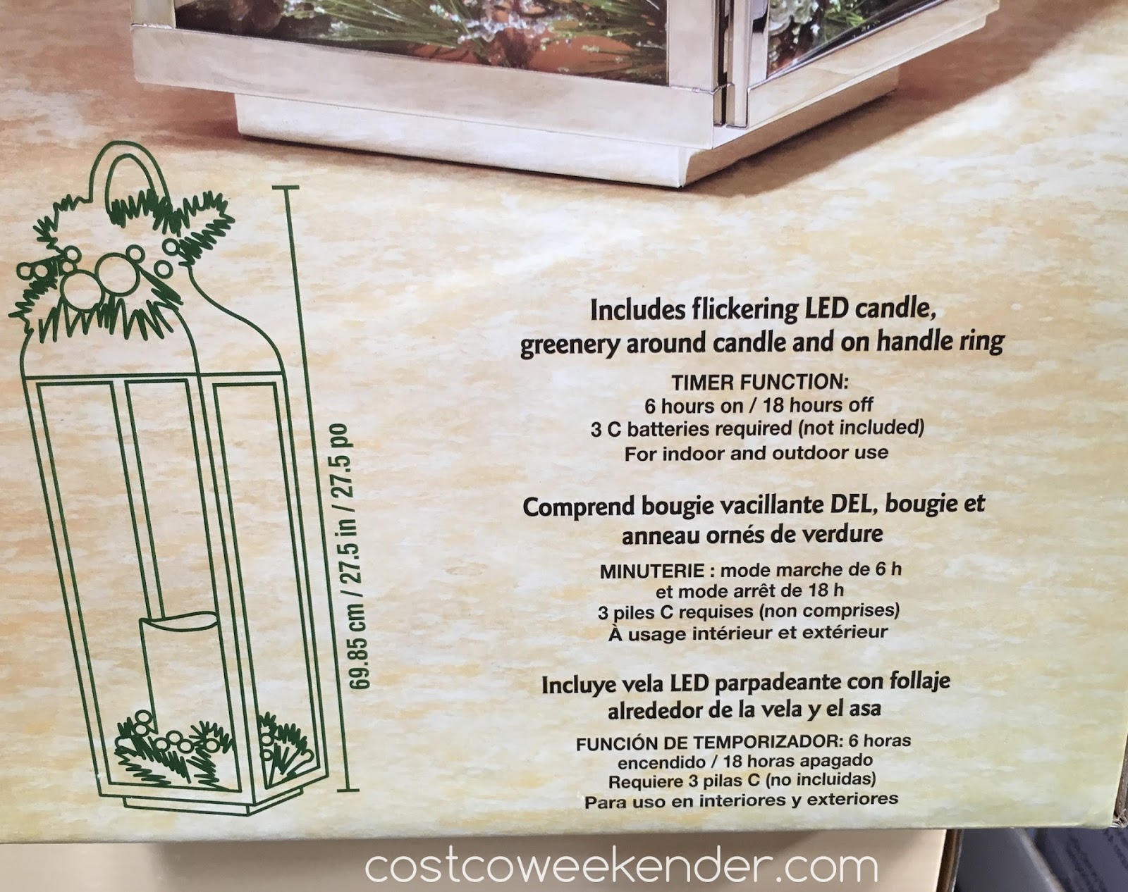 Costco 998633 - Stainless Steel Lantern - Functional lighting with stylish design