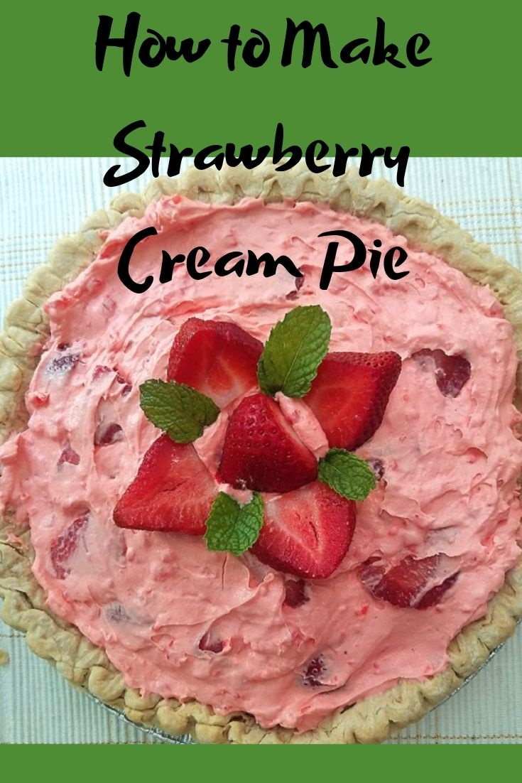 How to make strawberry cream pie