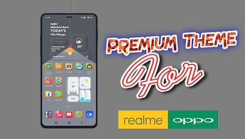 Tema Oppo All Series Tembus Aplikasi dan Realme UI