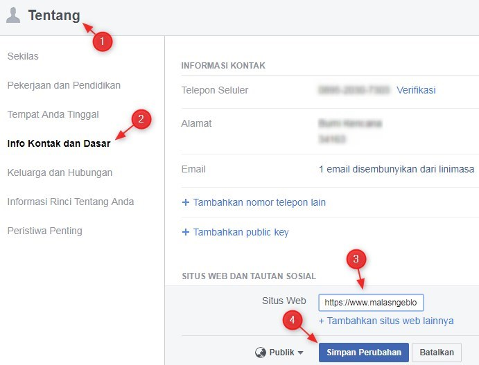Backlink Dari Profile Facebook