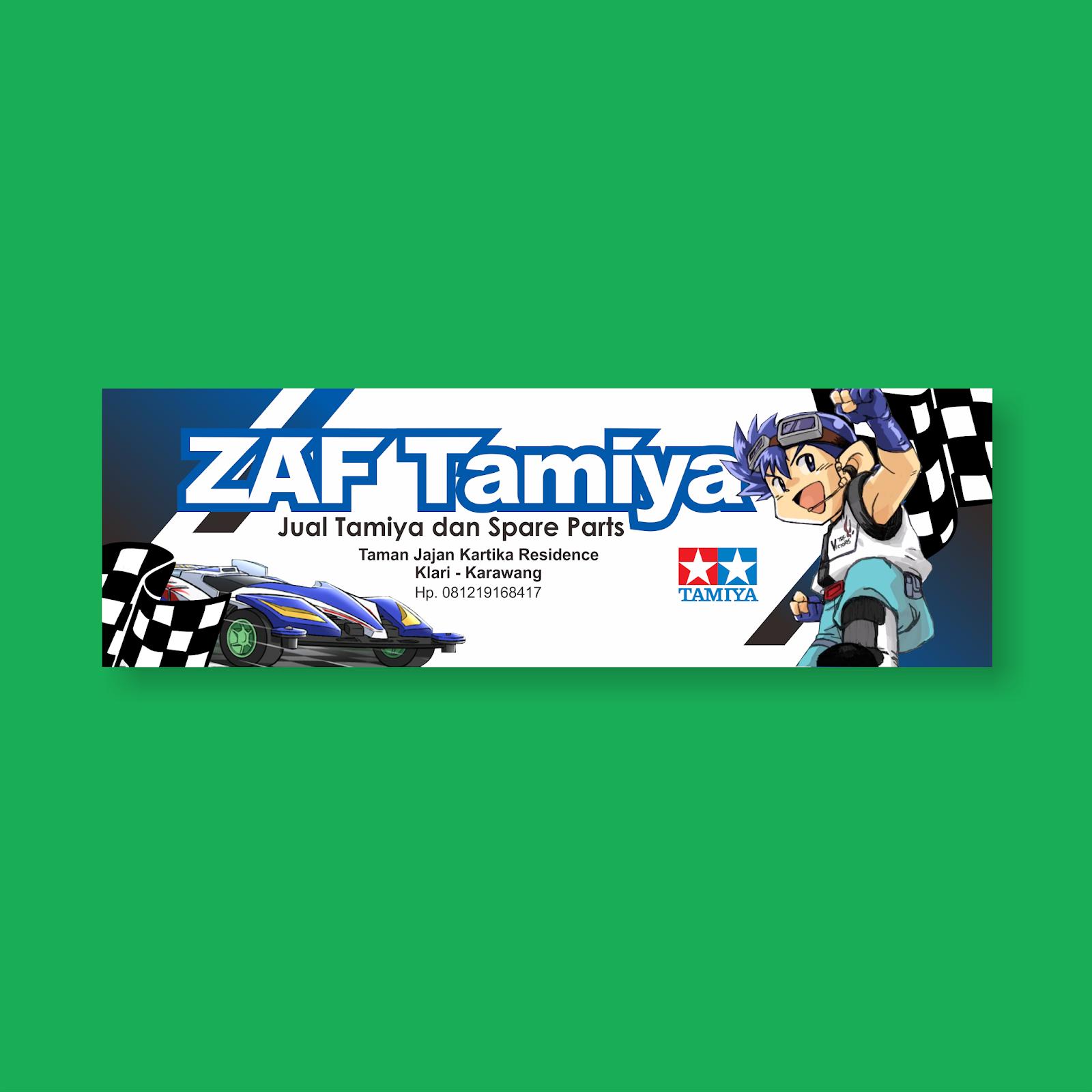 Desain Banner Toko Tamiya - Kebun Design: Branding ...
