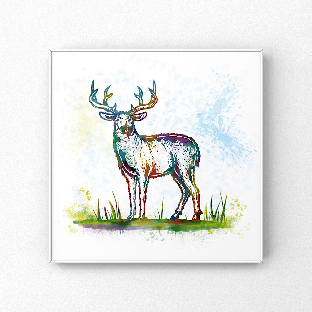 Cannock Chase Stag Art