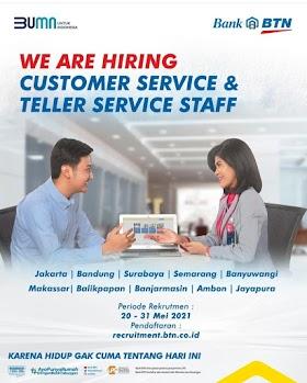 Lowongan Kerja BUMN PT Bank Tabungan Negara (Persero) Tbk Mei 2021