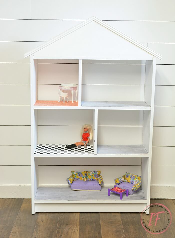 DIY Child's Dollhouse Bookcase