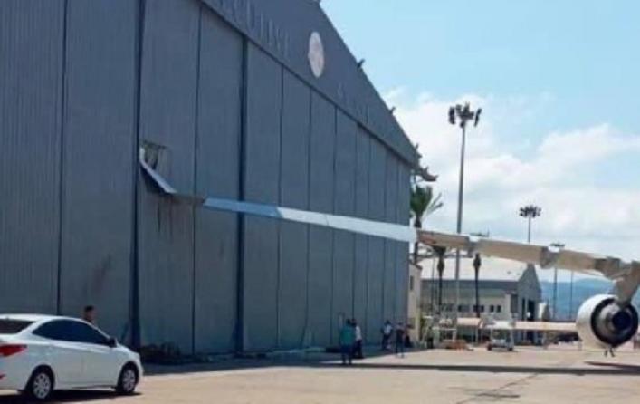 INSOLITE : L'Airbus A330 d'Emmanuel Macron heurte un hangar à Beyrouth