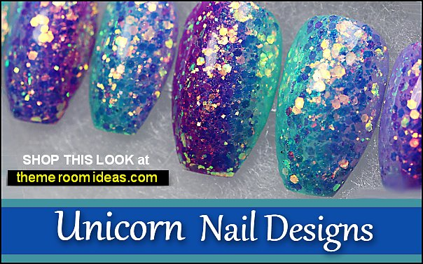 Unicorn Gradient Glitter Nails  unicorn nails color unicorn nails designs
