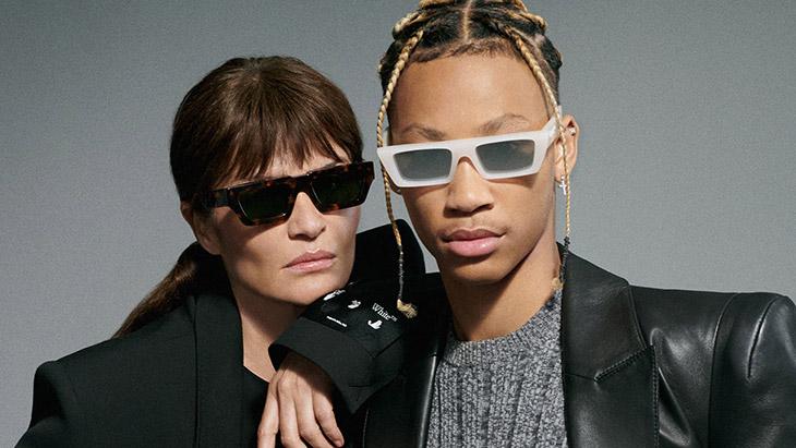 Helena Christensen, Justine Biticon and Lil Dre star in Off-White's Eyewear campaign