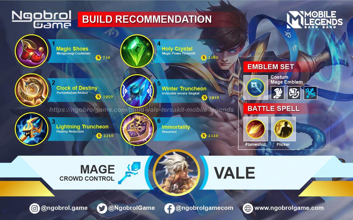 Build Vale Tersakit 2021 Mobile Legends