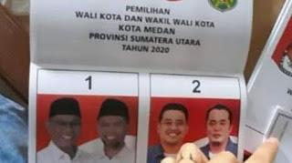 Heboh Foto Akhyar Dicetak Lebih Gelap dari Bobby Mantu Jokowi di Surat Suara Pilkada Medan