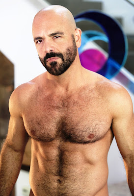 Shirtless Hairy Male Film actor Adam Russo