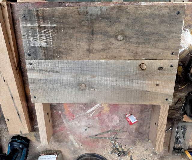Reclaimed Pallet Wood Seed Crate Storage Bench
