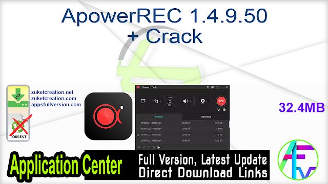 ApowerREC 1.4.9.50 + Crack