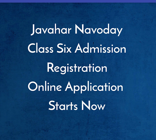 Jawahar Navoday Vidhyalay Class Six Admission : Apply Online :: nvsclasssix Admission 2020-21