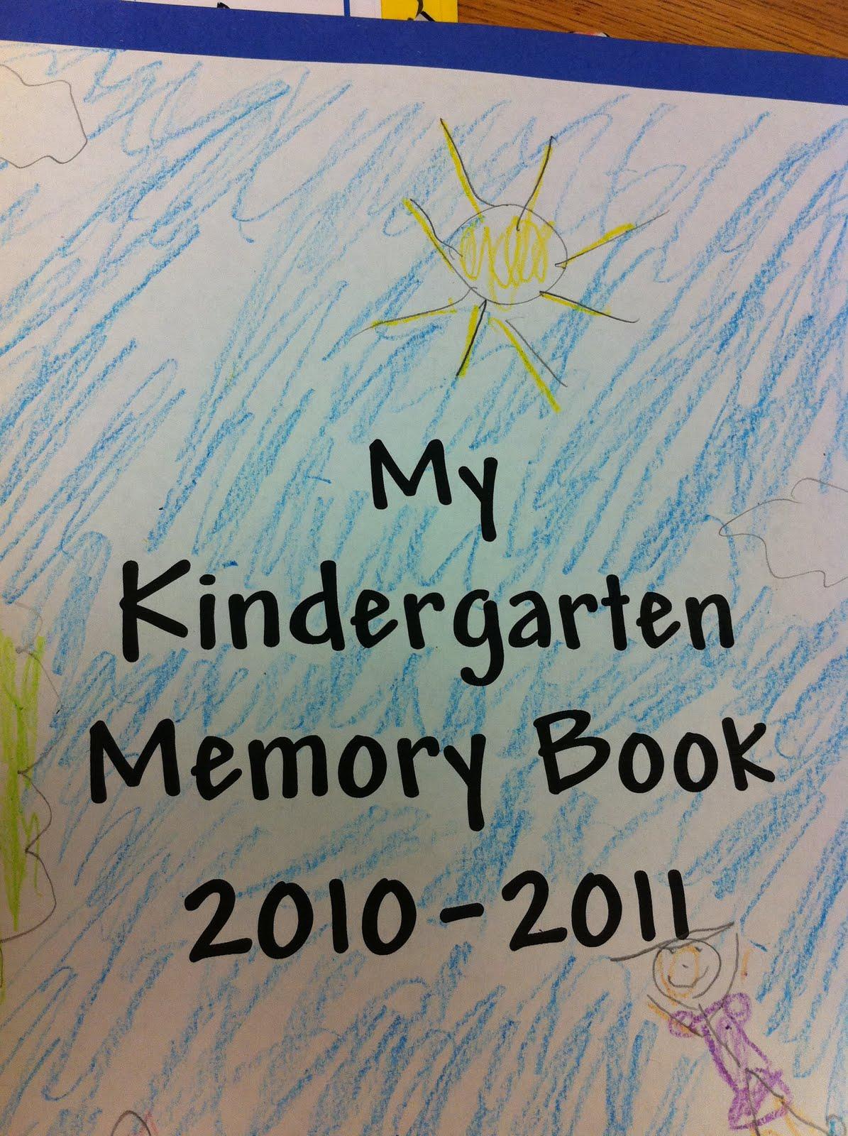 The Adventures Of A K 1 Teacher Kindergarten Memory Book