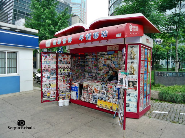 Newsstand in Shanghai