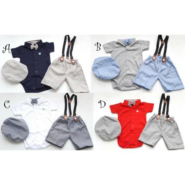 Setelan Suspender Bayi atau Anak Cowok Branded FA-156