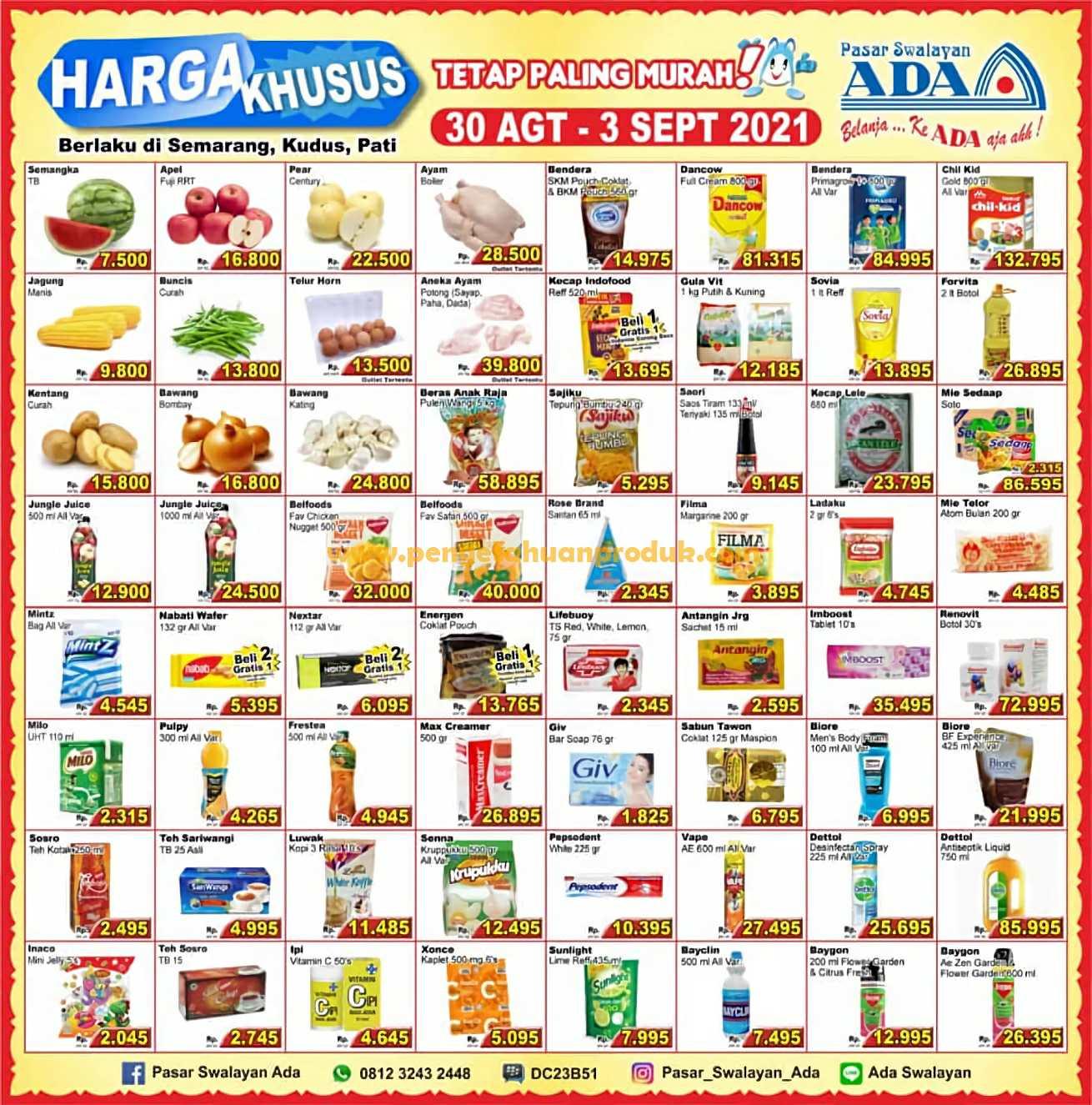 Katalog ADA Swalayan Promo Harga Khusus 30 Agustus - 3 September 2021