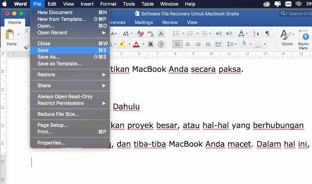 Simpan File Penting Terlebih Dahulu