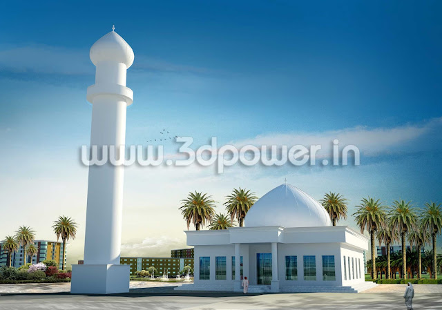 3D Rendering Services Of  Mosque