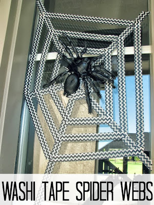 Washi Tape Spider Webs and 5 Must-Try Crafts for Halloween | #halloween #crafts #diy #holiday #washitape