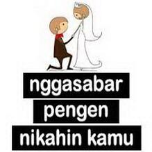 gambar dp bbm menikah ingin cepat menikah