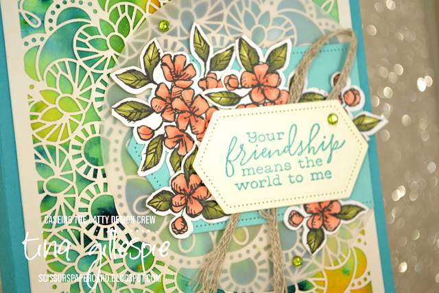 scissorspapercard, Stampin' Up!, CASEing The Catty, Bird Ballad Suite, Pigment Sprinkles