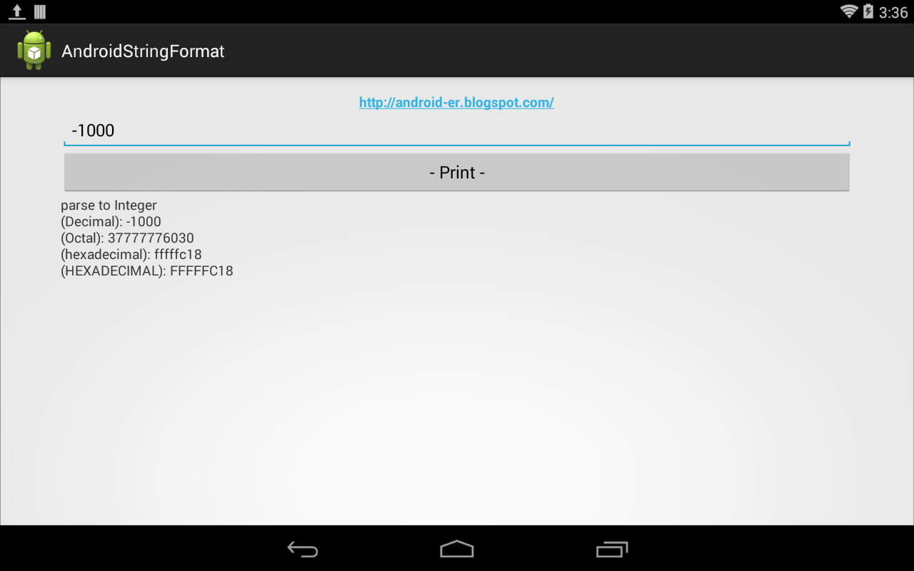 Android-er: Accept negative number in EditText