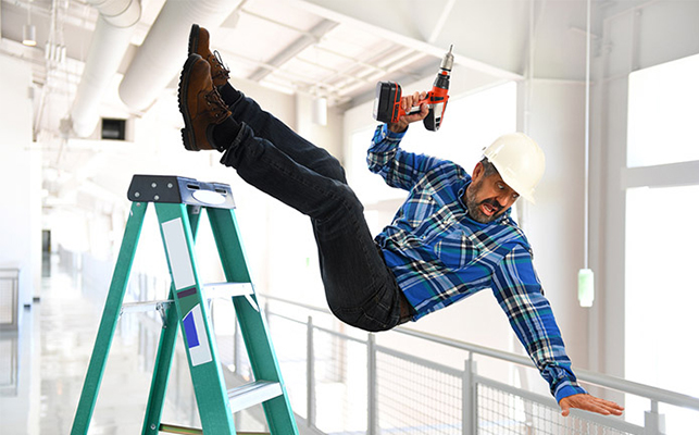 Take safety steps for stairs and ladder