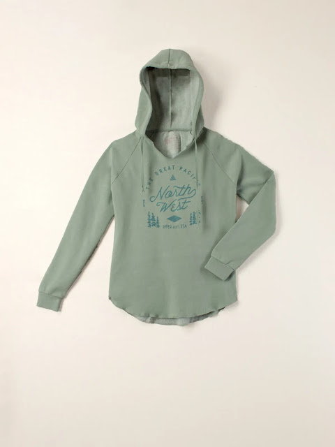 Green Pacific Northwest women's hoodie