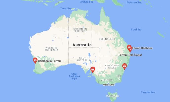 Ferrari authorized dealer address in Australia