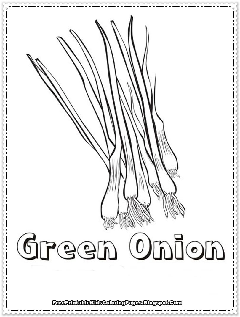 Onions Printable Kids Coloring Pages - Free Printable Kids ...