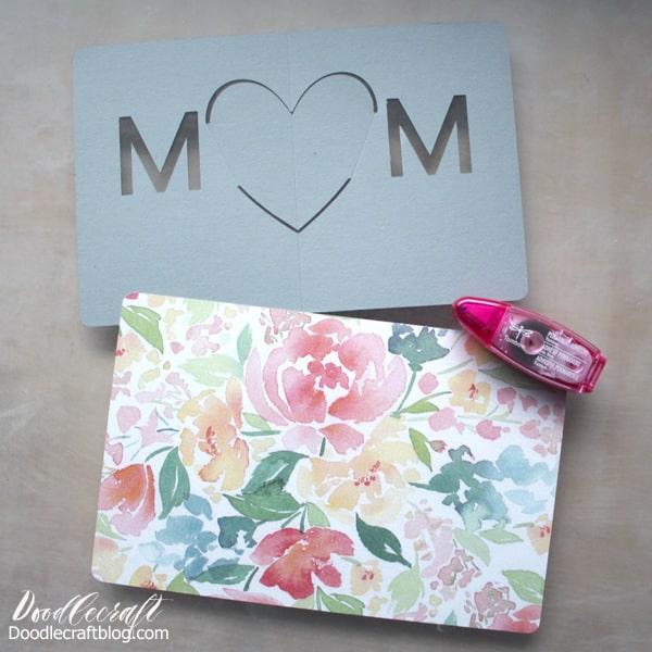Cricut Maker made pop-up card for mother's day
