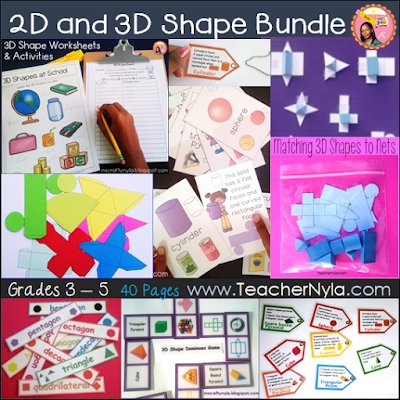 2D and 3D Shape Games, Activities and Printables