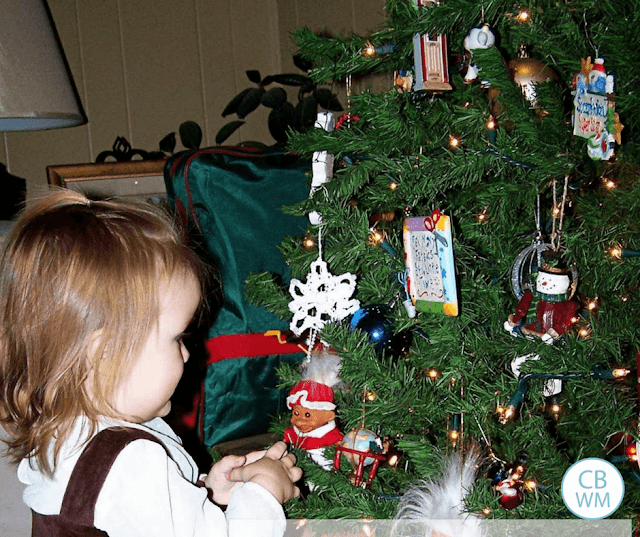 Should You Baby-Proof Your Christmas Tree or teach baby to not touch the ornaments on the tree?