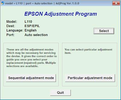 cara Resetter Epson L110 L210 L300 L350 L355