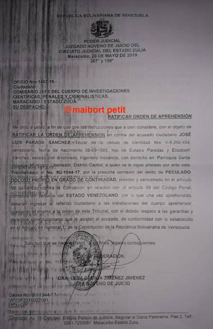 PDVSA, José Luis Parada Sánchez, ,