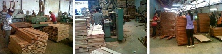 proses produksi lantai kayu