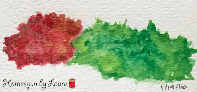 bush shrub watercolor Daily Doodle