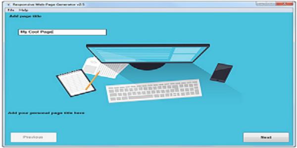 Responsive Web Page Generator - Free Download
