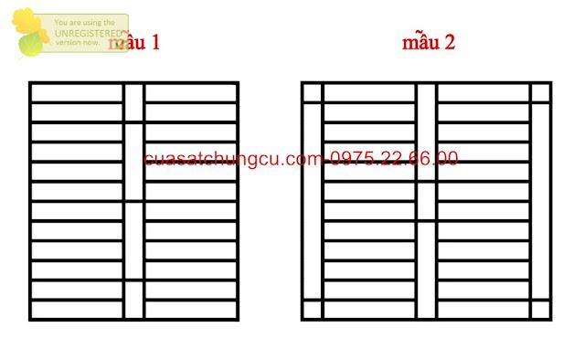 Mẫu thiết kế mẫu 2 và 4 khung cửa sổ an toàn, gọn gàng