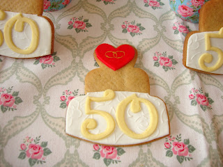 Galletas decoradas 50 aniversario