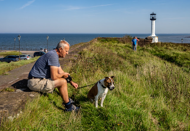 Photo of Phil and Ruby by Maryport Lighthouse