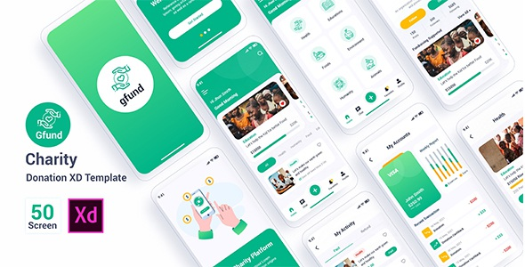 Best Charity Donation Adobe XD Template