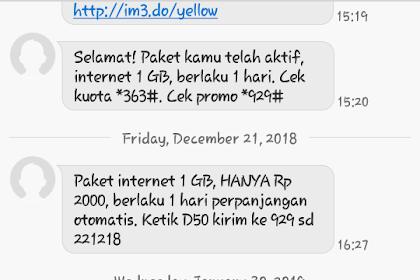 Kuota Internet Indosat Paling Murah, 3 GB Hanya 1 Ribu Rupiah
