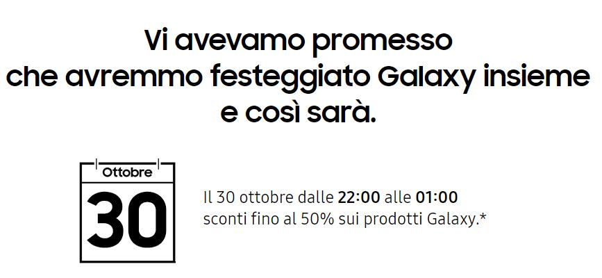 Samsung sconta del 50% la linea Galaxy per festeggiarne il decennale