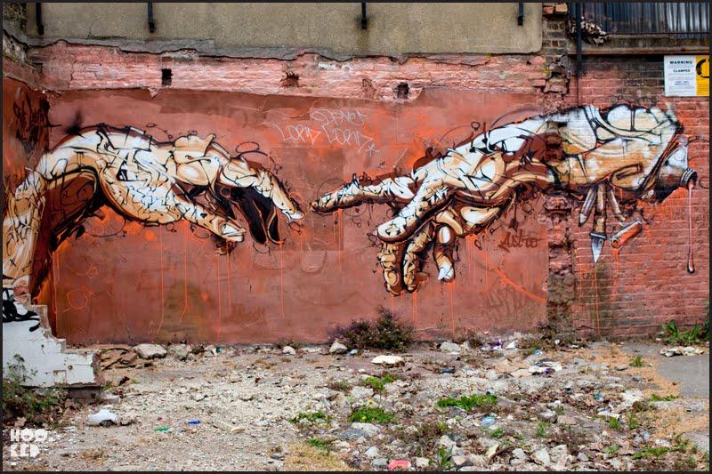 London street art in the Seven Star Yard