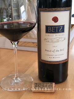 2015 Betz Family Winery Heart of the Hill Cabernet Sauvignon Label