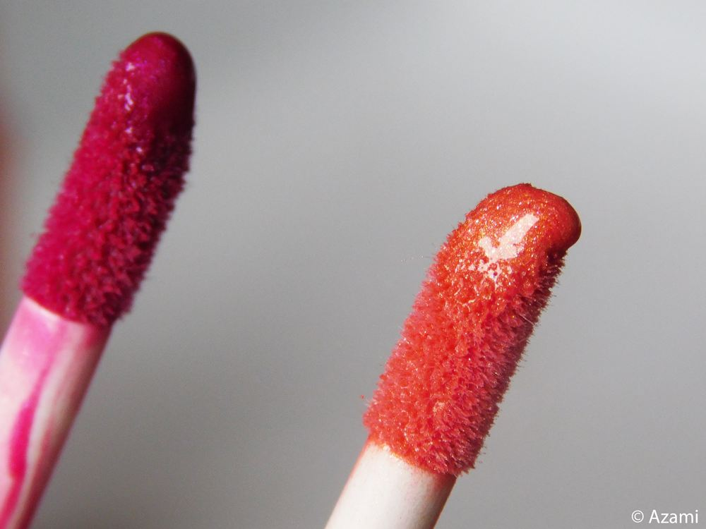 Azami Cosmetics   The Lip Glosses Review & Swatches - Umbridge - Peach Perfect - Mystique - Purple - Pink - Peach - London & Paris Makeup Artist & Blogger - Maquilleuse